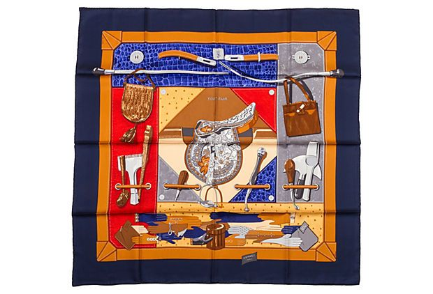 Hermès Silk Tout Cuir Scarf, C. Latham on OneKingsLane.com