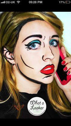 Cartoon / comic makeup   Face paint   Pinterest