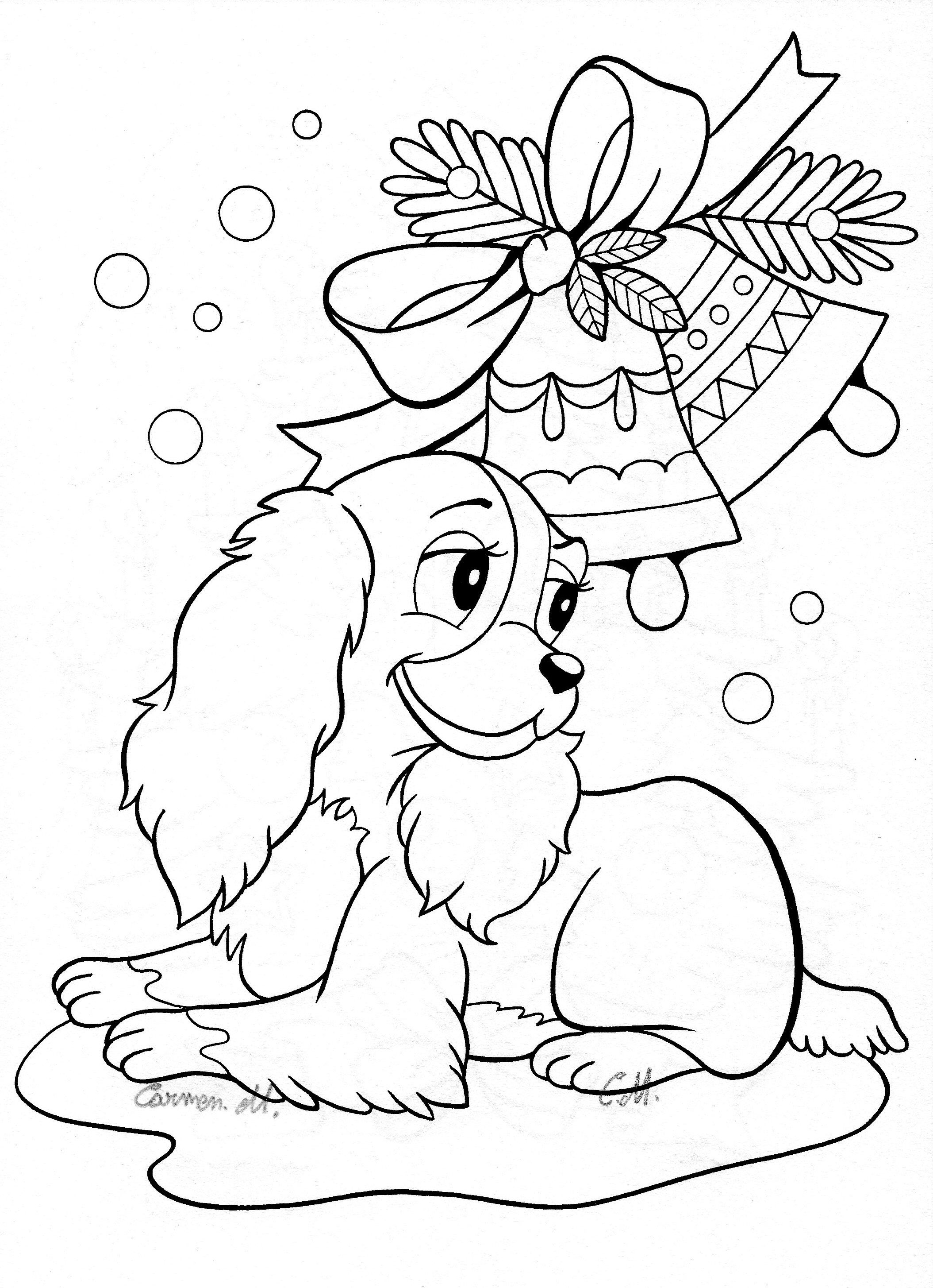 cute coloring pages lady the tramp christmas - Cute Coloring Pages Printable 2