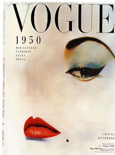 Vogue/Condé Nast Publications Erwin Blumenthal's photograph on Vogue's cover in January 1950.