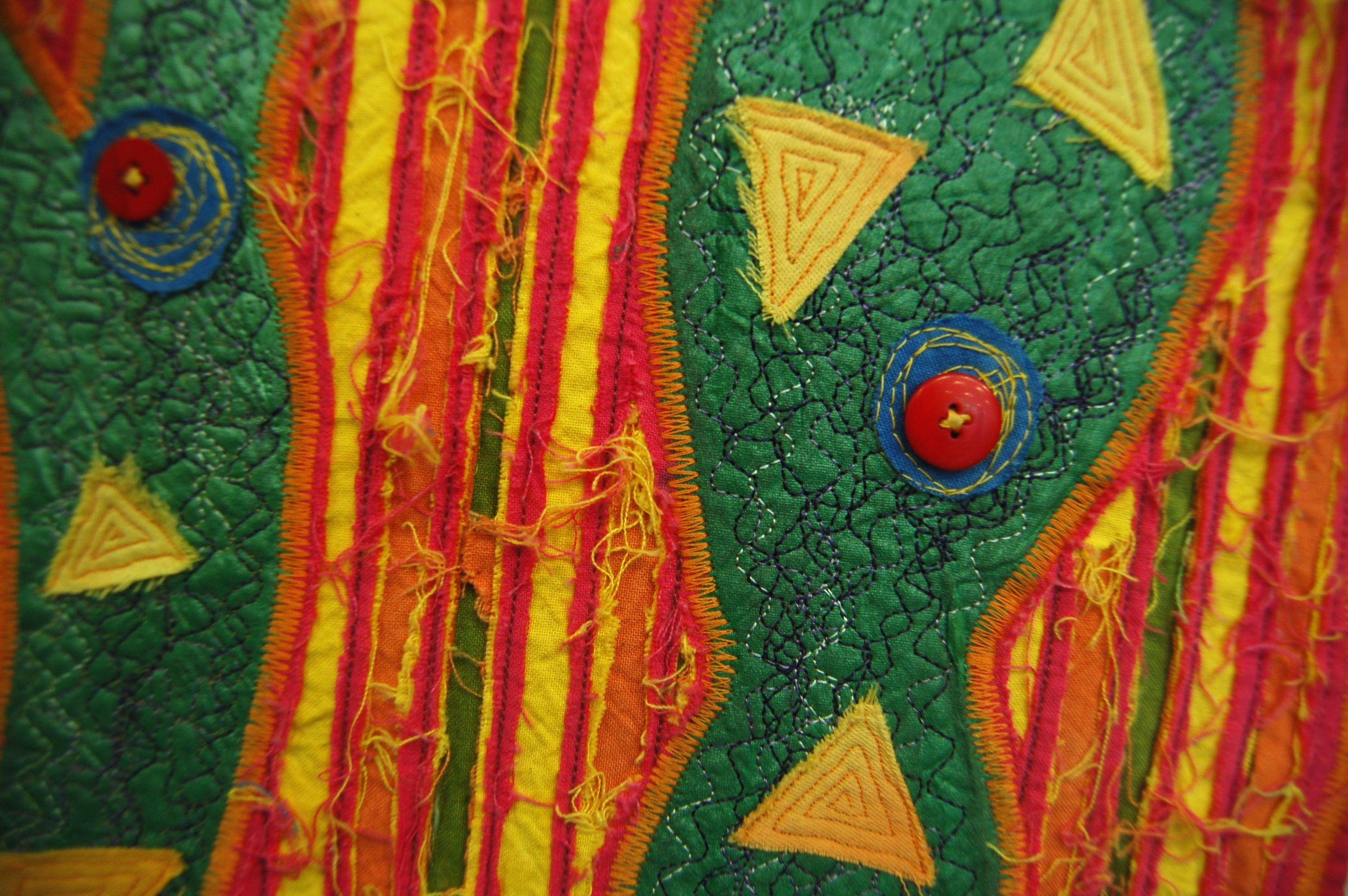 Bold Colours (Close up), from acrylic, relief sewing. 2007.