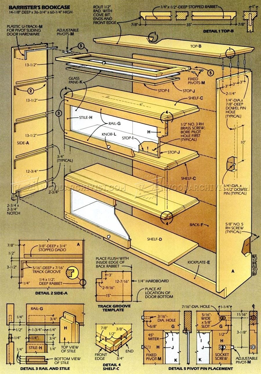 2101 barristers bookcase plans furniture plans projects to try rh pinterest com