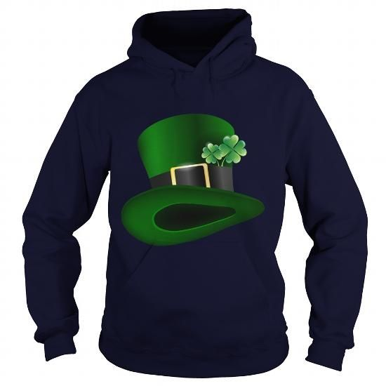 Green Hat With Clover Leafs - Saint Patricks Day #Hat