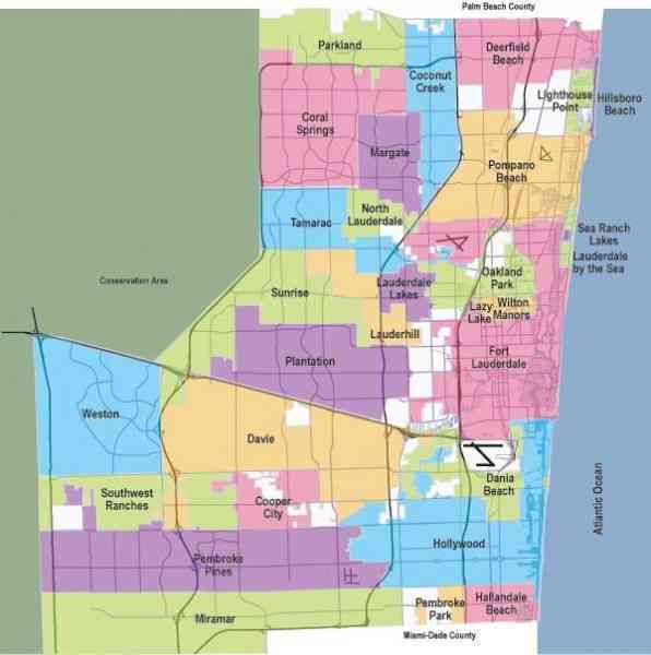 Broward County Municipalities Miami Real Estate Maps And Graphics