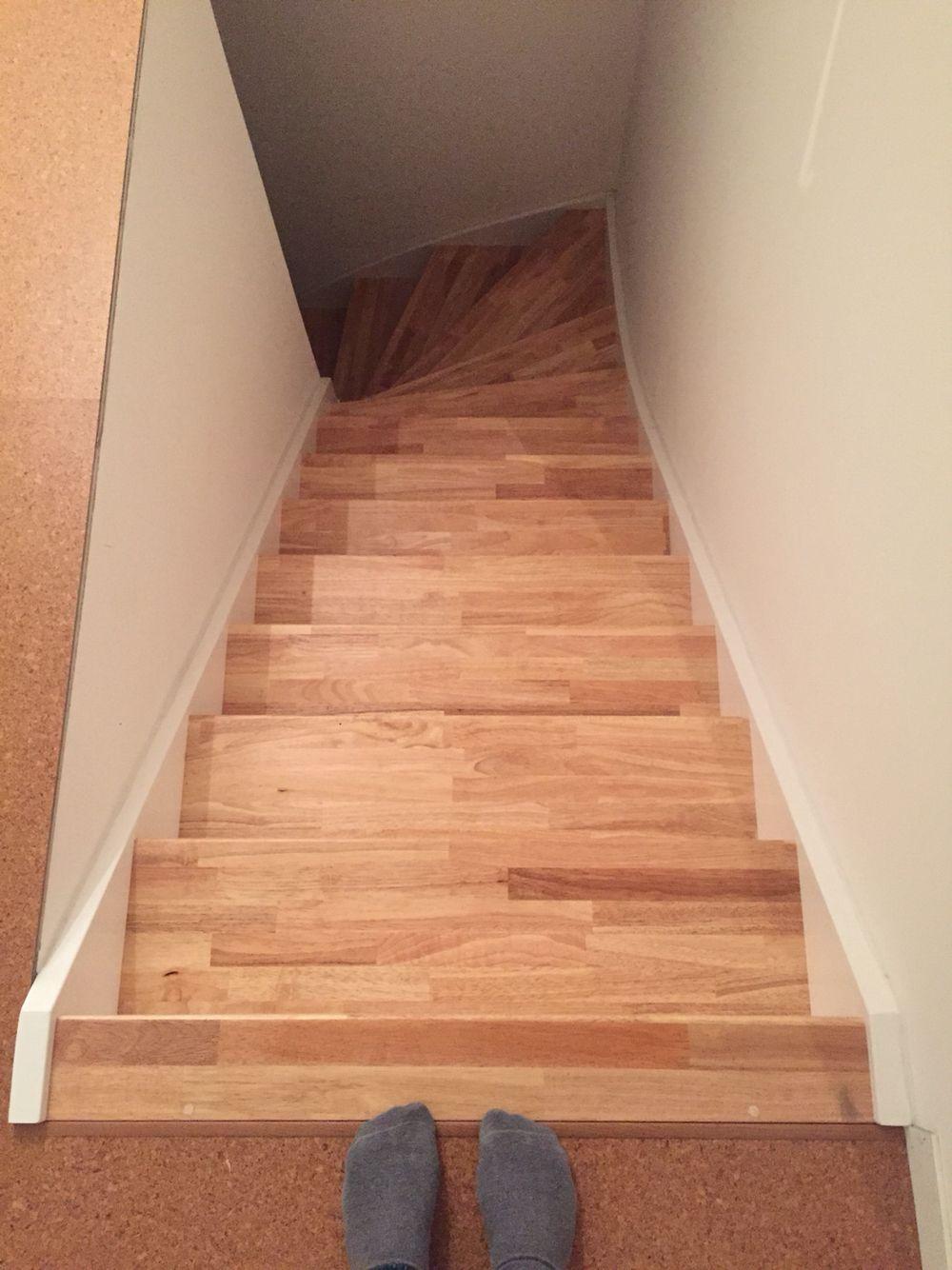 Best Cork Floor And Rubberwood Stairs Trap Restaurant En Parket 400 x 300