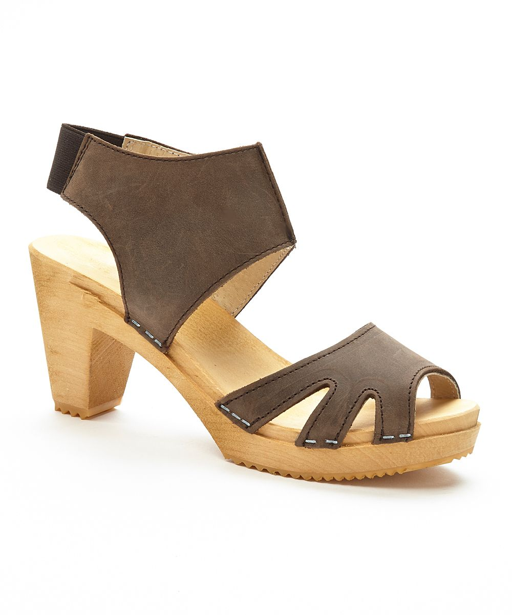 06851deff39a Brown Sonja Leather Sandal - Women Strap Heels