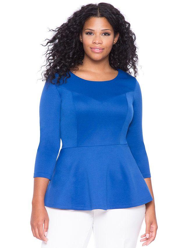 Ulla Popken Womens Plus Size Notch Collar Wool Blend Coat 713776