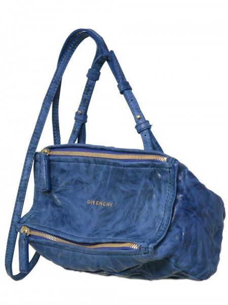 Givenchy Pandora Mini Washed Leather Shoulder Bag in Blue   Lyst ... e8bf79c1ff