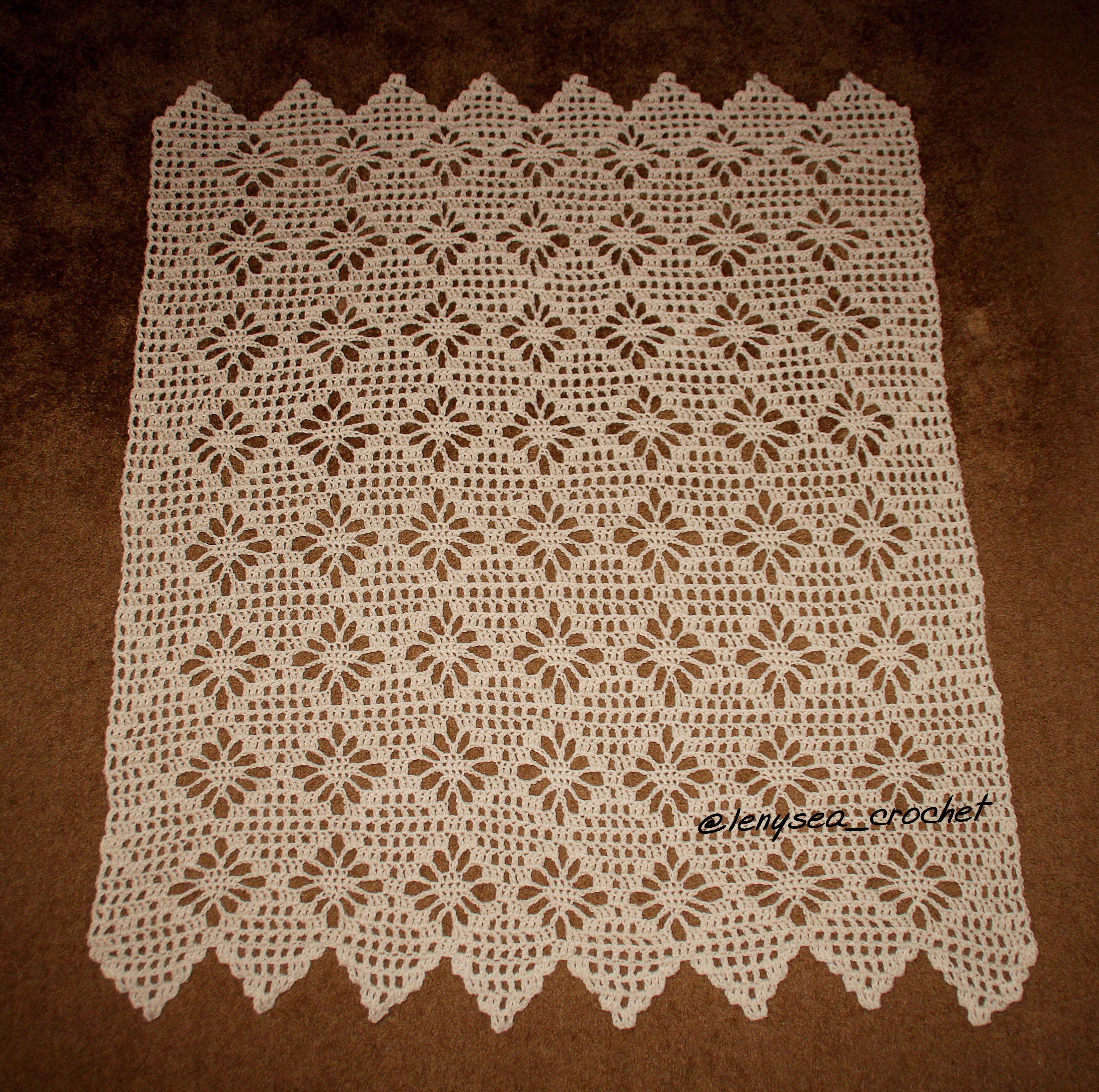 Light Lace Throw | Crochet afghan patterns, Afghan patterns and ...
