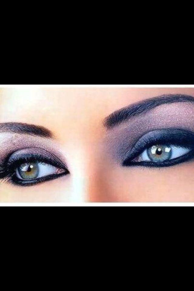 Violet Eye Make Up For Hazel Eyes Hair Makeup Pinterest