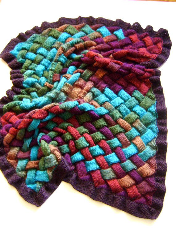 Entrelac Knitting Patterns Knitting Ideas Pinterest Blanket