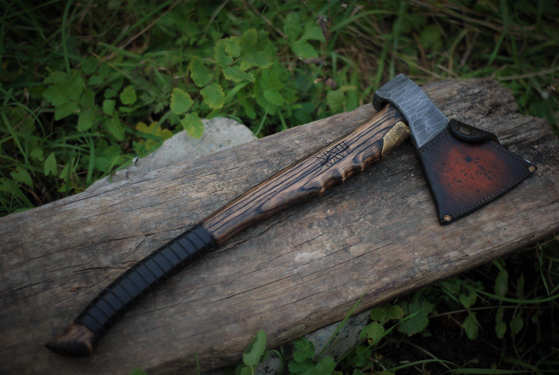 Battle Viking axe, hand forged axe, steel handmade hatchet