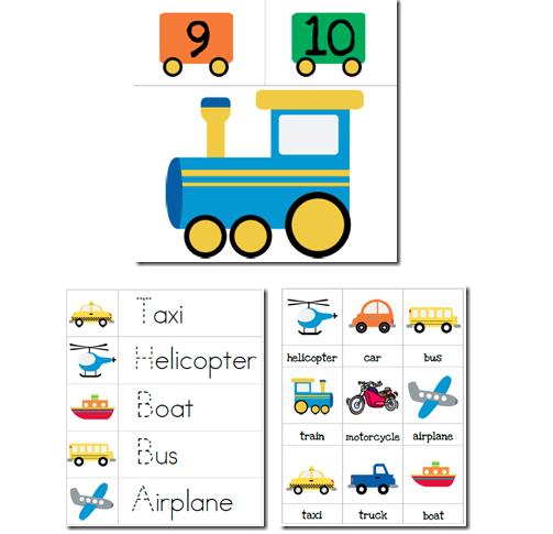 free transportation preschool printables pack - Free Preschool Printables