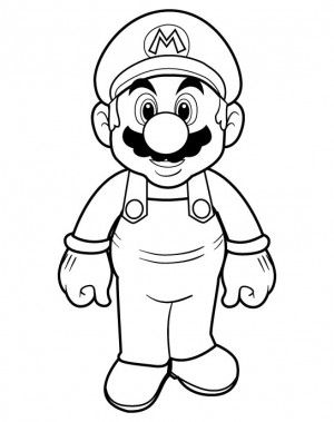 Printable Super Mario Bros Coloring Pages