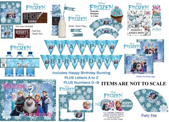 Disney Frozen Printables Disney Frozen Party Frozen Theme Party Frozen Bday Party