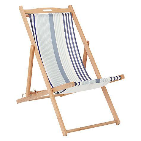 John Lewis Coastal Diffused Stripe Deckchair Sling & House ...