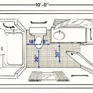 Small narrow bathroom layout ideas home pinterest for Ada bathroom design plans