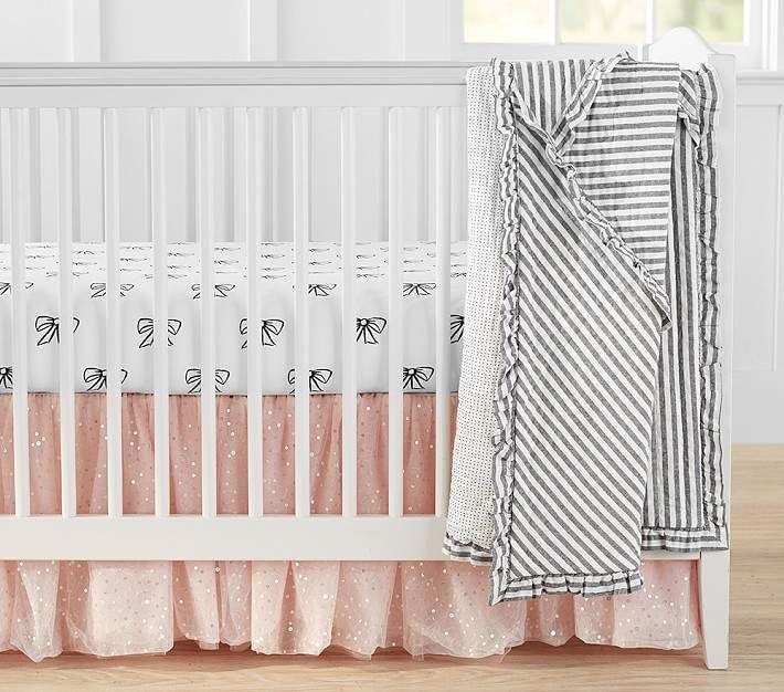 Pottery Barn Kids Elliott Toddler Quilt+Crib Skirt