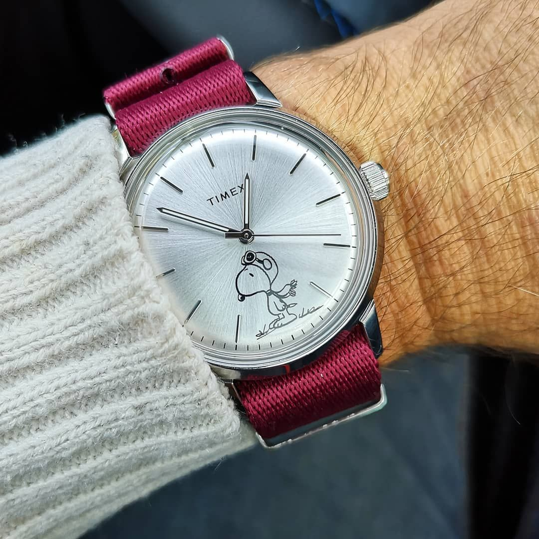 0740ef9b6 Timex Marlin Snoopy   Watches in 2019   Watches, Omega watch, Instagram