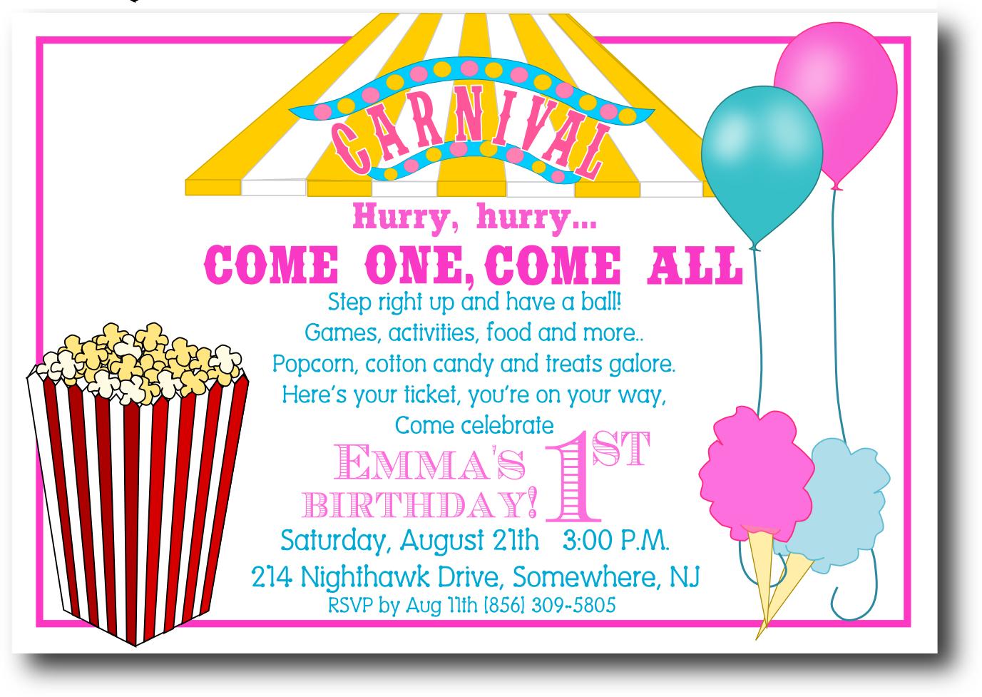 free printable carnival invitation templates invitetown reunions