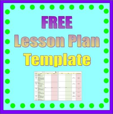 Lesson Plan Template Full Week From Heart 2 Teach On
