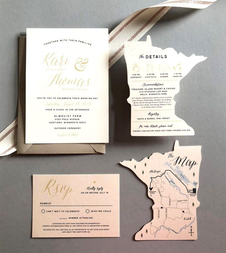 Wedding Venues Near Me Cheap: Exceptional Map Form Destination Wedding Party Invitation
