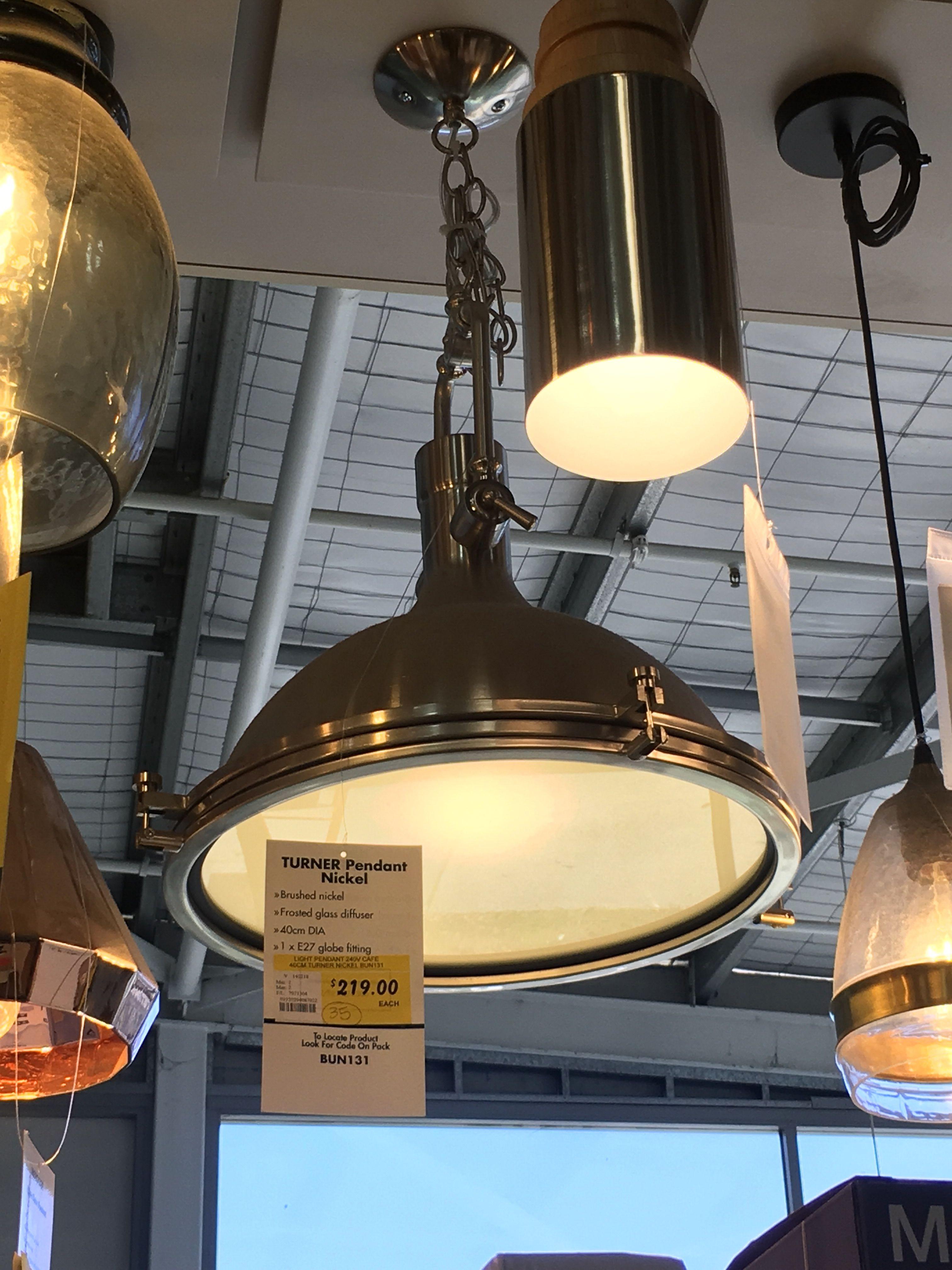 Turner Pendant Nickel And Batton Ceiling Lights Light Lighting