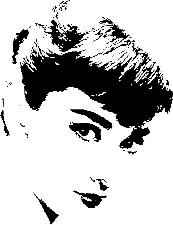 Audrey Hepburn Version 3 Vinyl Wall Art Decal By Pasargad On Etsy