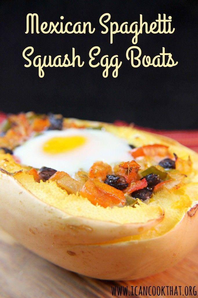 Mexican Spaghetti Squash Egg Boats Recipe