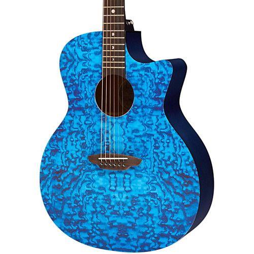 Blue Acoustic Guitars Guitar Center Luna Guitars Blue Acoustic Guitar Acoustic Guitar