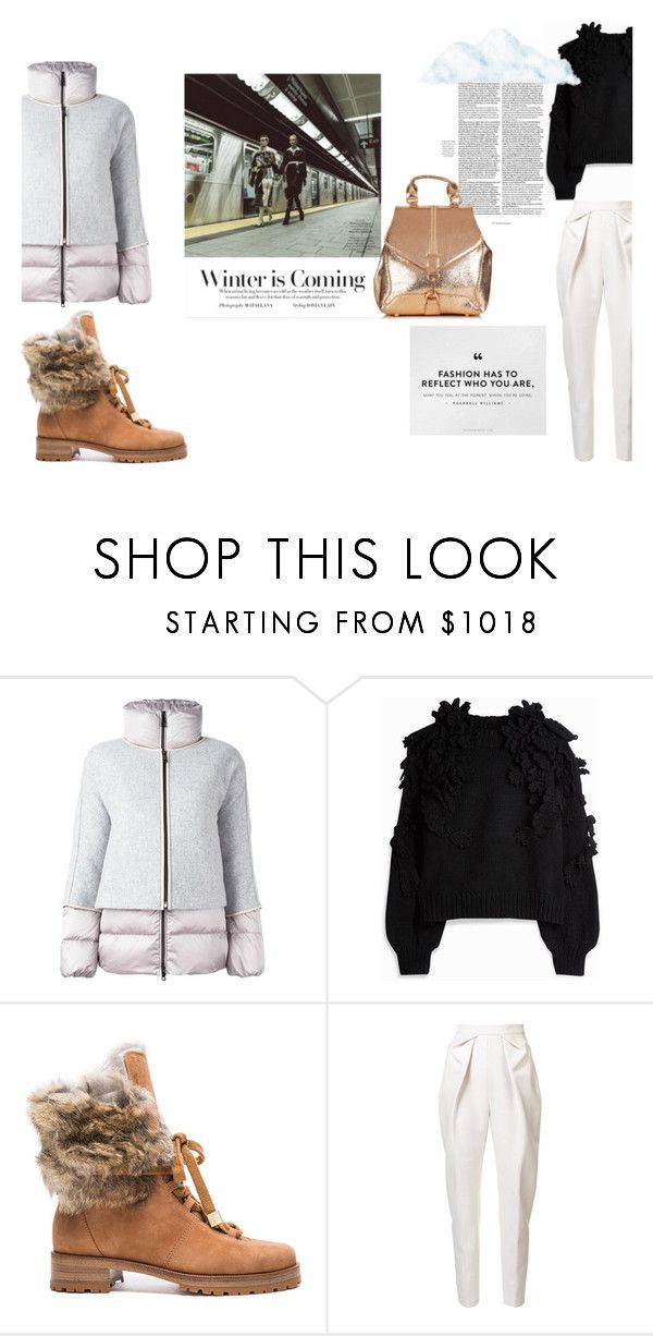 """""""puffer"""" by littlemisskarlee ❤ liked on Polyvore featuring FAY, Alexandre Birman, Stephanie Rad and Delpozo"""