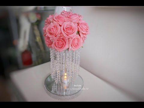 Decoracion con globos dorado y blanco en casamiento por la - Cristales para mesa ...
