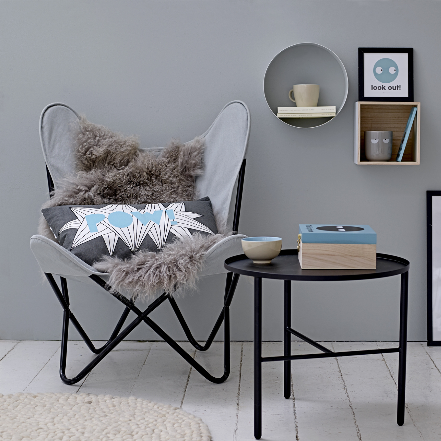 En sand klassiker Butterfly stol også kaldet flagermus stol, her fra ...