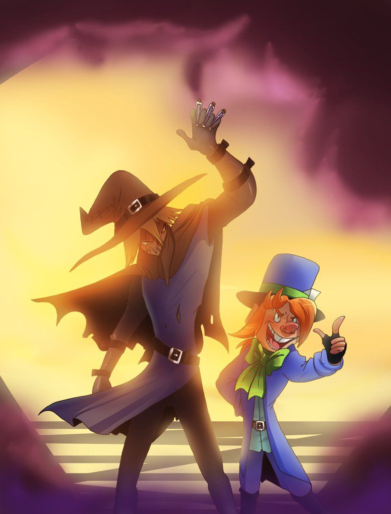 Scarecrow And Mad Hatter Encounter by pinkninja on