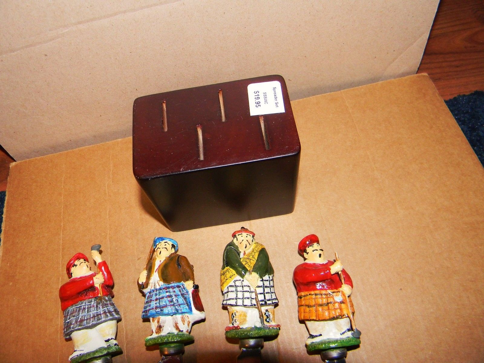 Scottish Golfers Spreader Set of 4. Spreaders, Cheese