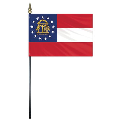 Georgia Stick Flag 4 X6 E Gloss Flagco Flag State Flags Stick