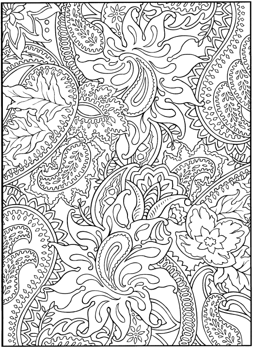 Coloring pages for grown ups! I so want these!
