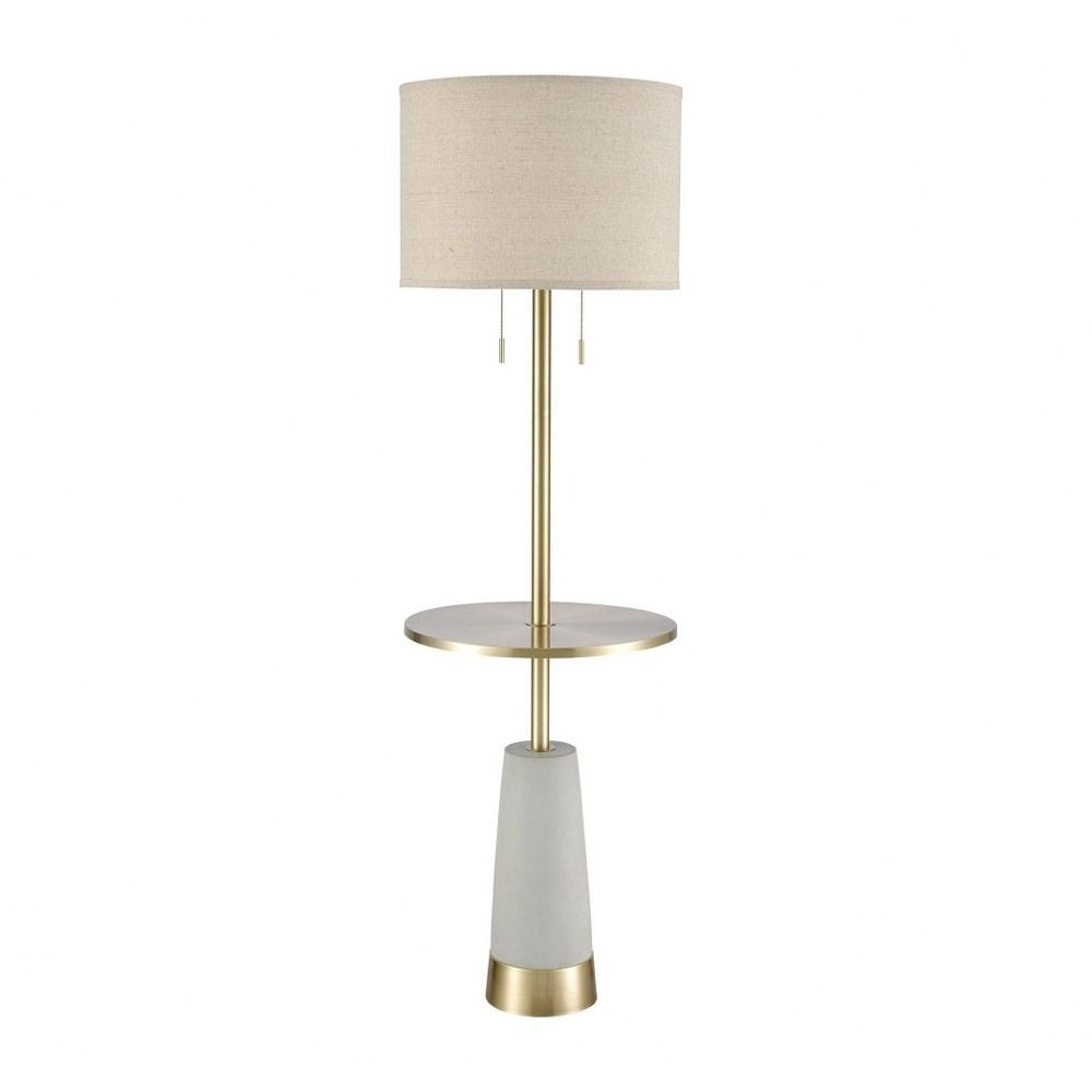 Livingstone Wood Two Light Floor Lamp Antique Brass Silver Finish With Grey Linen Fabric Shade In 2021 Glam Floor Lamps Floor Lamp Lamp