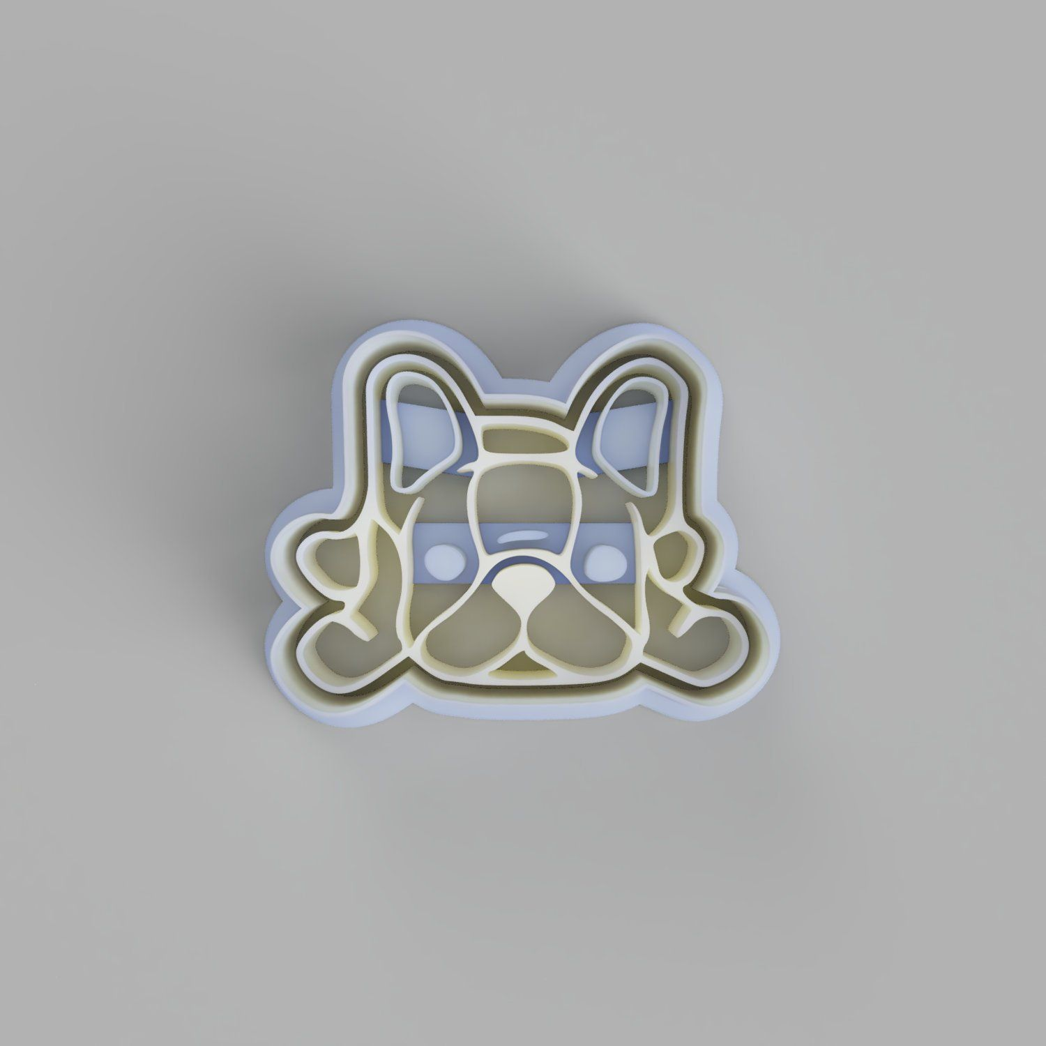 french bulldog cookie cutter and stamper. cute frenchie dog