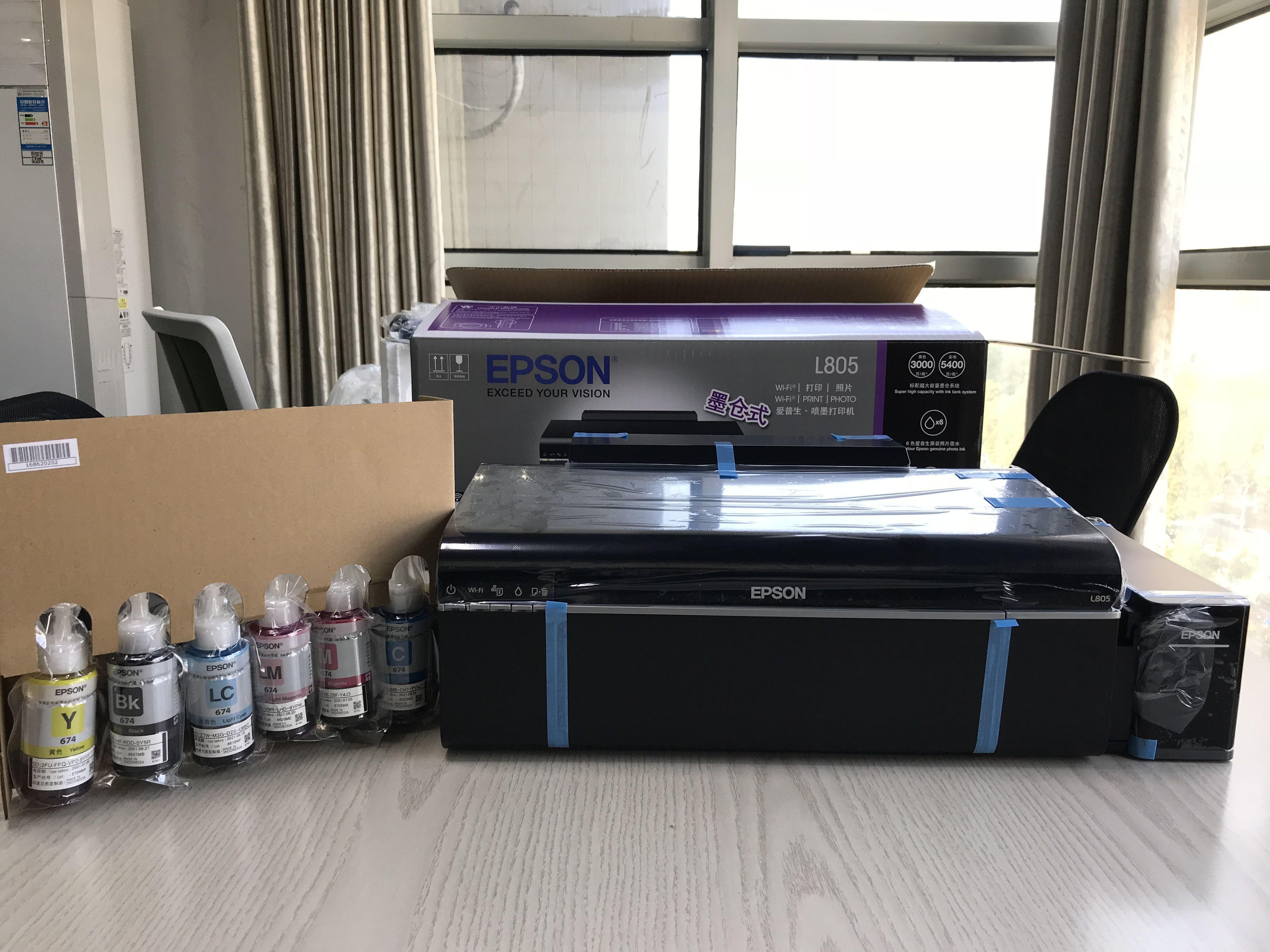 Epson Desktop L805 6-Color Wireless Photo Inkjet Printer
