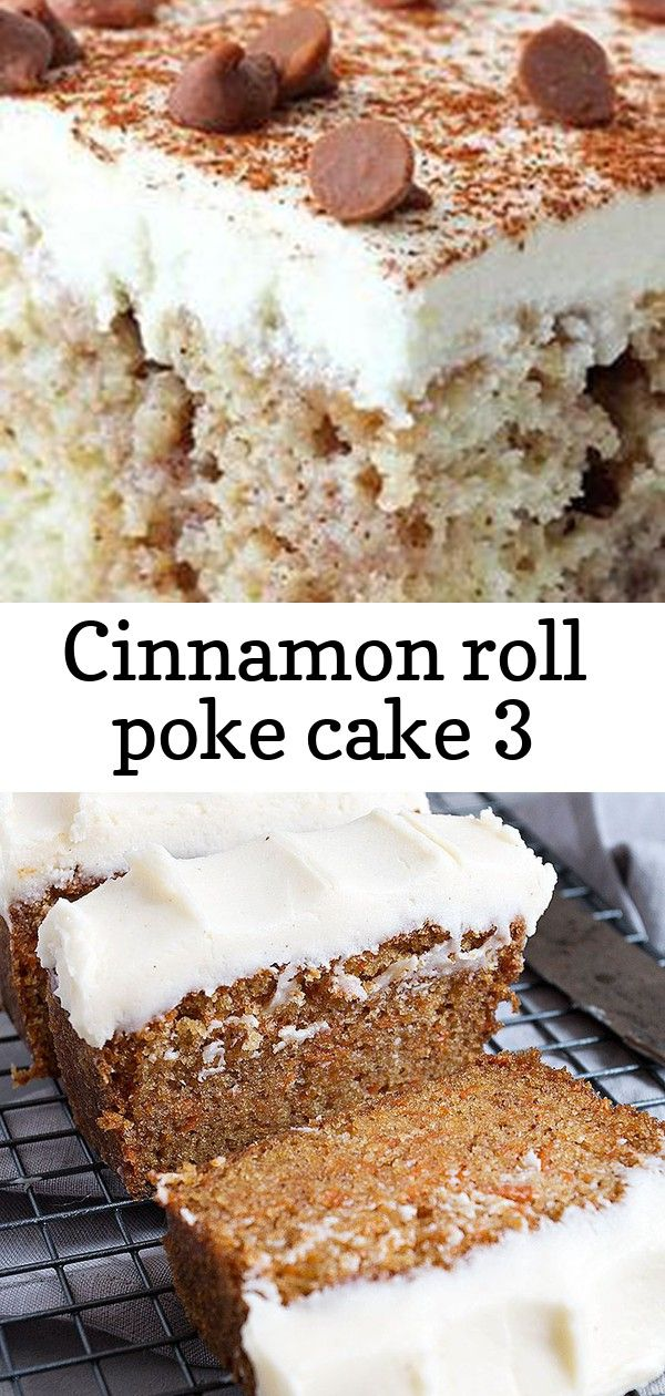 Cinnamon roll poke cake 3 #cinnamonrollpokecake