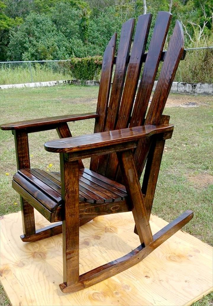 Pallets Rocking Chair  WOODWORKING  Pallet chair Pallet