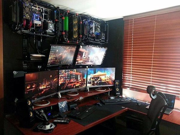 50 Gaming Man Cave Design Ideas For Men Manly Home Retreats Game Room Design Video Game Rooms Computer Room