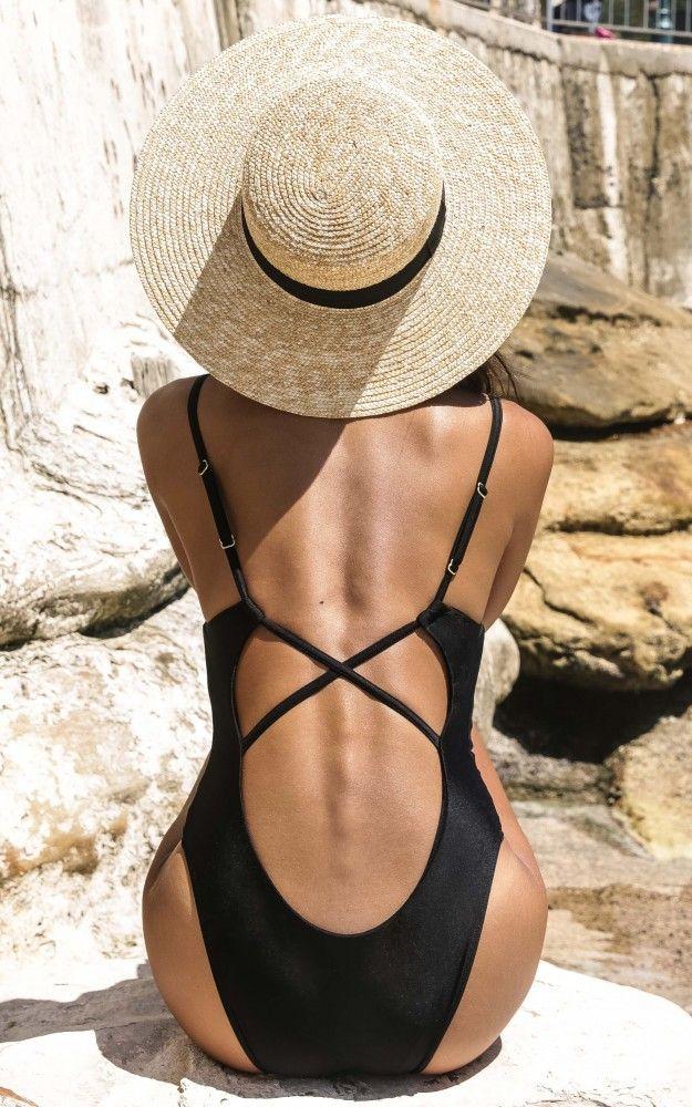 b5947a634b Black One Piece Swimsuit, Bathing Suits One Piece, One Piece Bikini, One  Piece