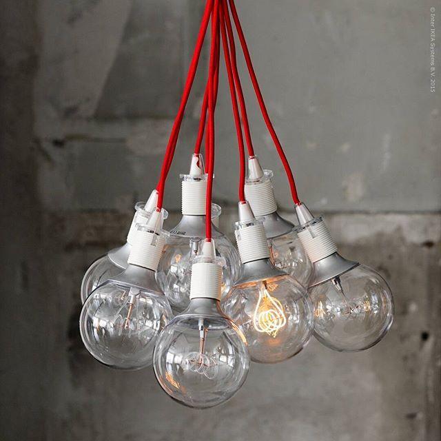 Ikea Red Chandelier: Home - Ikea, Red Pendant Light En Home Decor