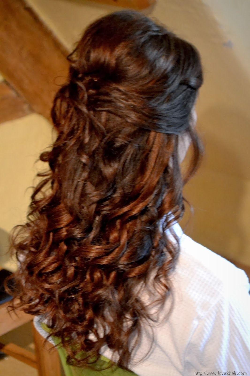 artistic half up half down wedding hairstyles : wedding hair