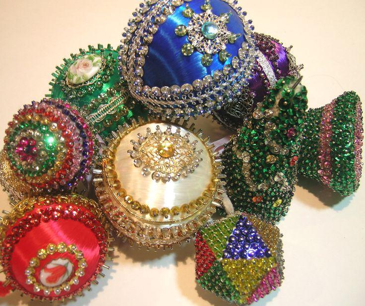 Styrofoam Balls Decorations 62C175A1D7Afdf53954709847102F145Sequinornamentsvintage