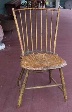 19th century rod back style windsor chair with bamboo turnings on
