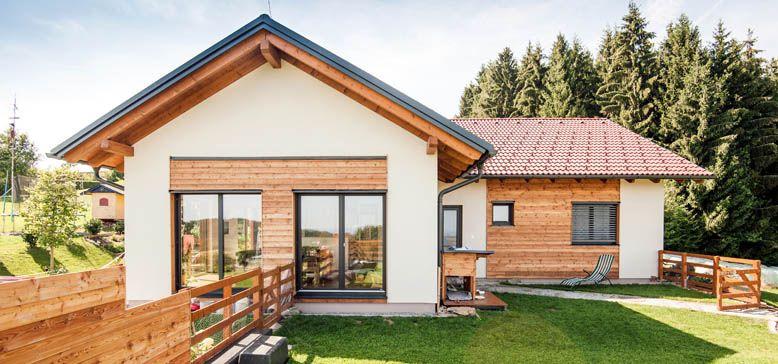 Fertighaus bungalow satteldach  einfamilienhaus satteldach flach - Google-Suche | Hausideen ...