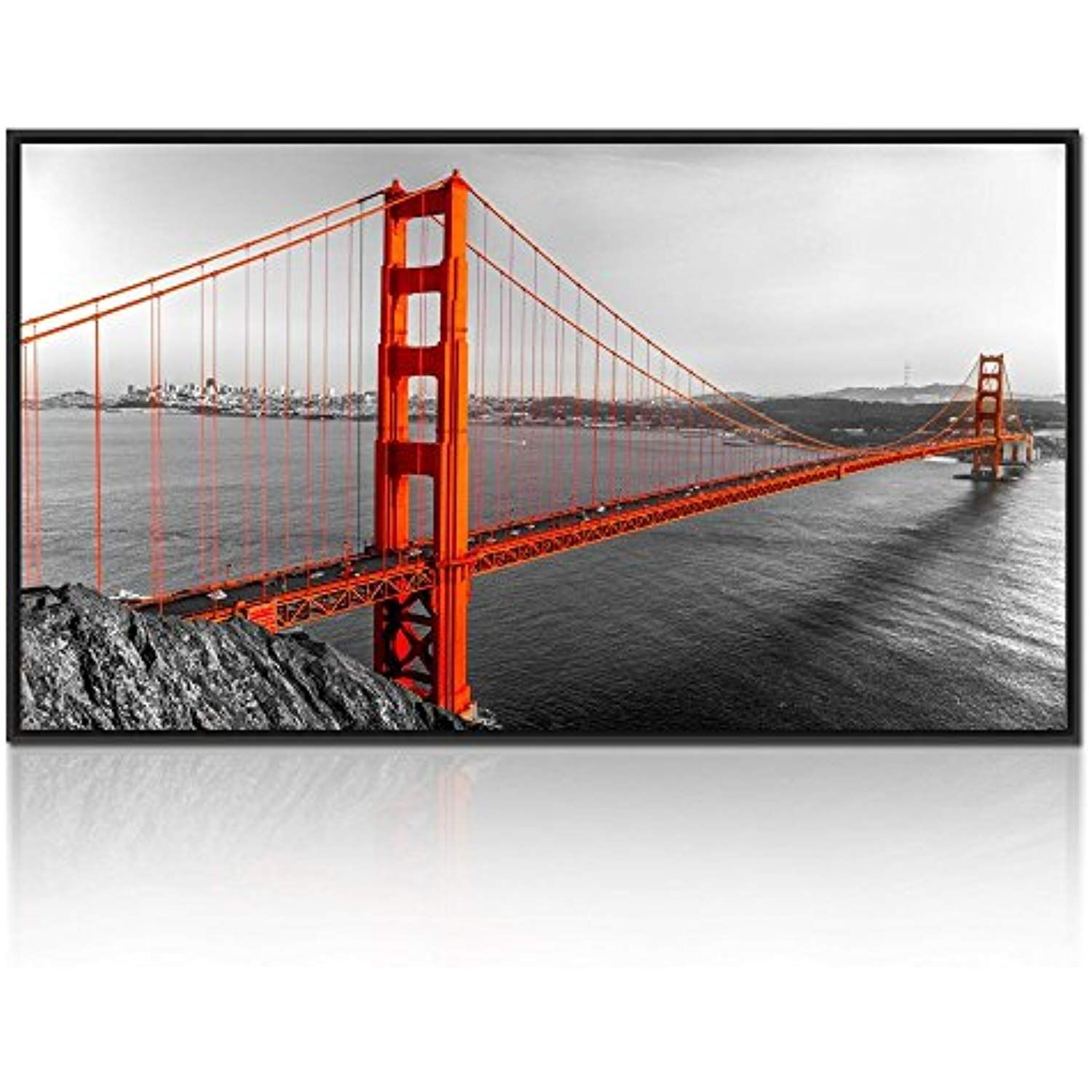 Kreative Arts Extra Large Size Floater Frame Canvas Wall Art Contemporary Black White And Canvas Wall Art Contemporary Framed Canvas Wall Art Print Pictures
